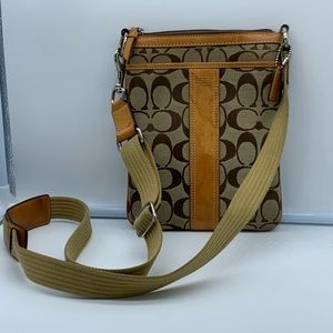 COACH brown and tan letter C crossbody #K05N-6016